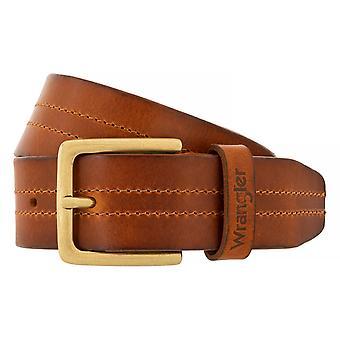 Cinturones de WRANGLER correa cuero cinturones de hombre Cognac 6525