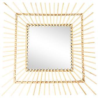Vierkante Rotan Spiegel 60cm