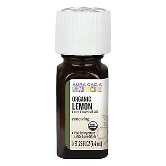Aura Cacia Essential Oil, Lemon 0.25 oz