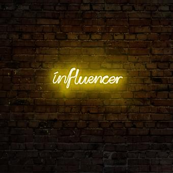 Influencer - Gul gul vägglampa
