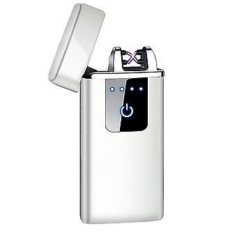 جديد hb-021-الجليد قطعة أزياء قوس مزدوج الإلكترونية أخف وزنا الذكية لمسة USB التعريفي القابلة لإعادة الشحن sm41907