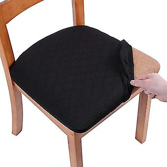 Seat Covers For Dining Room Chairs Stretch Jacquard Dining Chair Seat Covers(Black)