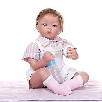 50Cm élethű részletes kézfesték újjászületett kisfiú reális baba kéz gyökerező haj gyűjthető baba karácsonyi ajándék