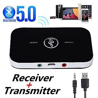 Bluetooth 5.0 Audio Transmitter Receiver Rca 3.5mm Aux Jack Usb Dongle Music Wireless Adapter
