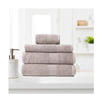 4 Pcs Luxurious Absorbent Cotton Bamboo Towel Set