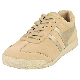 Gola Harrier Womens Classic Trainers in Oat Gold