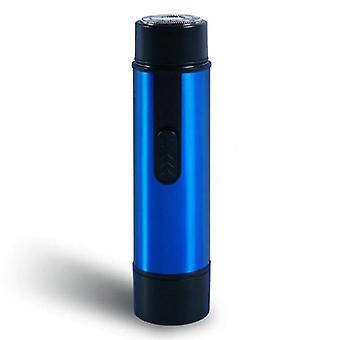Protable Mini Elektrisk barbermaskine skæg trimmer (blå)