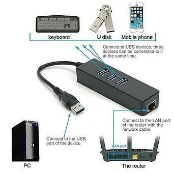 EXTERN tilläggskabel för USB 3.0-portarshubbar med Gigabit Ethernet-port