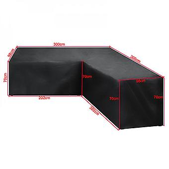 Evago Heavy Duty Outdoor Sectional Sofa Cover Waterproof Patio Sectional Couch Cover, L-shaped Lawn Patio Furniture Cover