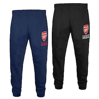 Arsenal FC Boys Joggers Jog Pants Slim Fit Fleece Kids OFFICIAL Football Gift