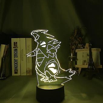 Tyranitar 3d Led Night Light Kids Soveværelse Bordlampe Farverige
