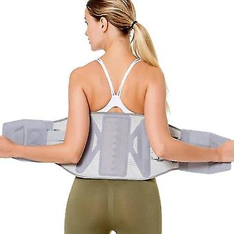 Back brace lumbar support belt brace with self-heating pad double pull relieve back discomfort and