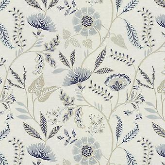 Copie de florence poudre bleue tissu imprimé floral