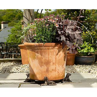 Potty Feet Irish Setter Themed Plant Pot Feet - Bronze Color - Set of 3