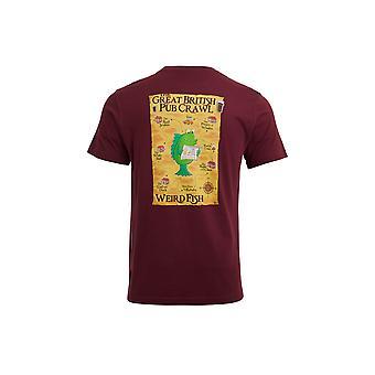 Pub Crawl Tall Organic Cotton Artist T-Shirt Antique Cherry