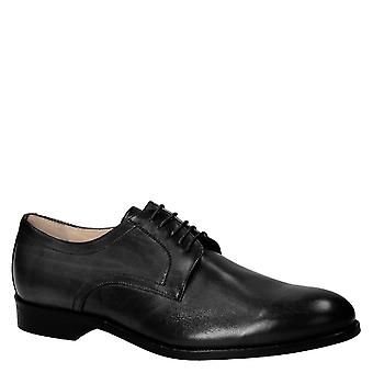 Chaussures derby noir fait main homme Made in Italy