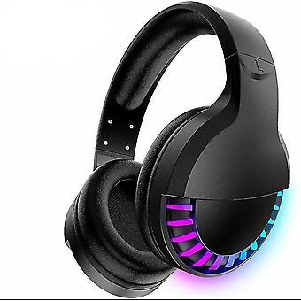 Wireless Bluetooth RGB Gaming Headset for Phone/PC/iPad(Black)