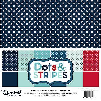 Echo Park Paper Silberfolie Dot Sammlung Kit (DSF16086)
