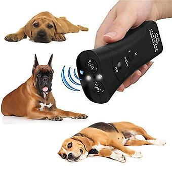 Ultraääni koira repeller kaksipää anti koira haukkuu lemmikki kouluttaja led valo lempeä chaser
