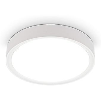 LED Deckenleuchte 12 W I 4.000k I 25 cm Durchmesser I 1.200 Lumen I Neutralweißes Licht I Mattweiß