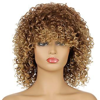 Pelucas del centro comercial de la marca, pelucas de encaje, pelucas realistas, pelo corto rizado