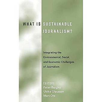 What Is Sustainable Journalism?: Integrating the Environmental, Social, and Economic Challenges of Journalism (Hardback)