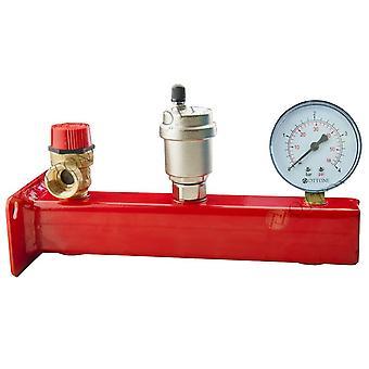 "1/2"" 3/4"" Safety Group Bar Boiler Heater up to 50kW Valve Vent Manometer 3 Bar"