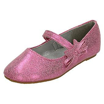 Girls Cutie Flat Ballerina Shoes with Bow Detail