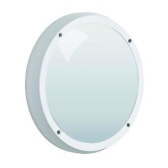 LED Robus Vega 14W LED IP65 White Bulkhead, Emergency With Microwave Sensor