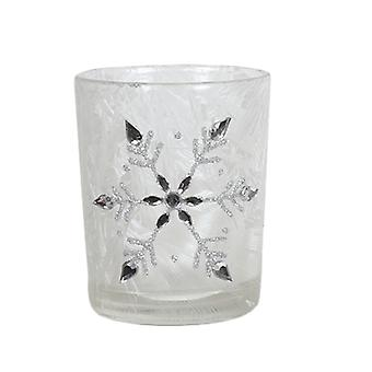 Aroma Frosted Snowflake Votive Holder