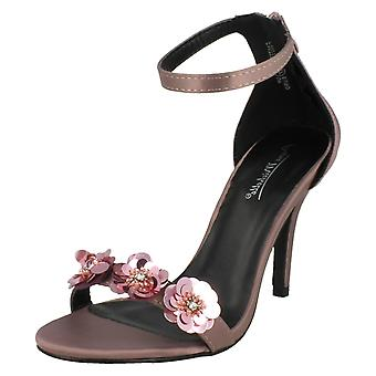 Ladies Anne Michelle Flower Trim Sandals F10777