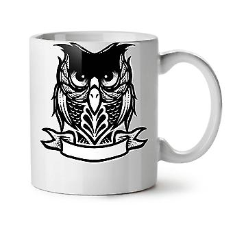 Cartoon Owl NEW White Tea Coffee Ceramic Mug 11 oz | Wellcoda