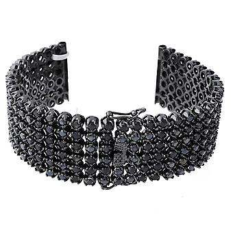 Iced out BLING montres bracelet - 6 ligne FULL BLACK