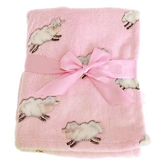 Snuggle Baby Pink Baby Wrap For Someone Special With Sheep Design
