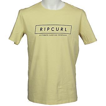 Rip Curl Herre T-Shirt ~ Undertow Logo gul