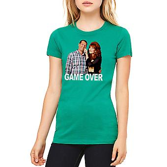 Married With Children Game Over Women's Kelly Green T-shirt