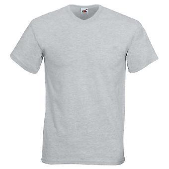 Frukt av vävstol hög V-Neck Valueweight bomull T Shirt
