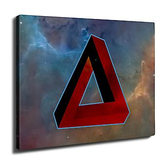 Impossible Triangle Wall Art Canvas 40cm x 30cm | Wellcoda
