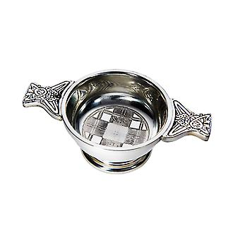 Celtic Small Embossed Tartan Quaich