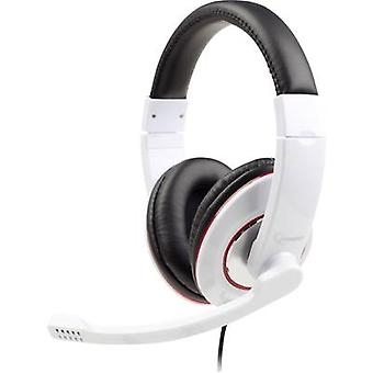 Gembird MHS-001-GW PC headset 2x 3,5 mm jack (lyd / phono) Ledning, Stereo Over-the-ear Hvit, Svart