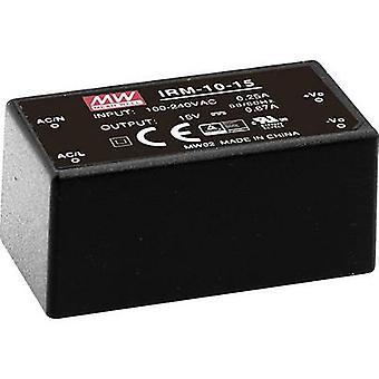 Mean well IRM-10-12 AC/DC PSU (Print) 12 V DC 0,85 A 10 W