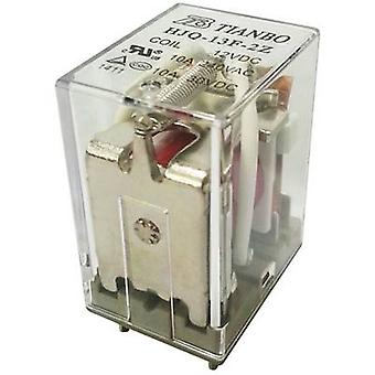 Tianbo Electronics HJQ-13F-2Z -12VDC Plug-in relay 12 V DC 15 A 2 change-overs 1 pc(s)