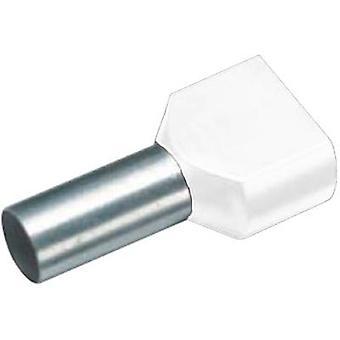 Vogt Verbindungstechnik 470108D doble férula 2 x 0.50 mm2 x 8 mm Blanco parcialmente aislado 100 uds(s)