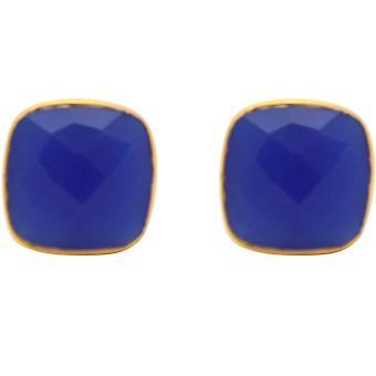 Boucles d'oreilles Gemshine Pour Femme Studs Silver Plated ChalcedonFaceted Blue