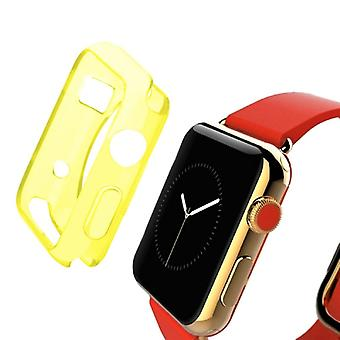 Ultra thin protective case Smartwatch bag pouches TPU for Apple watch 42 mm transparent yellow