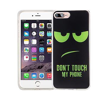 Telefono cellulare custodia per Apple iPhone 7 plus copertina custodia protettiva motivo sottile in silicone TPU non tocca il mio telefono Grün