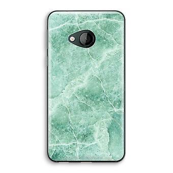 HTC U spelen transparant Case (Soft) - groen marmer