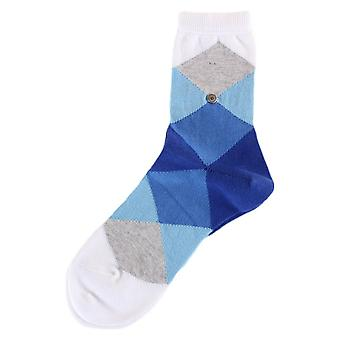 Burlington Bonnie Socks - Light Blue/Dark Blue/White