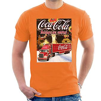 Coca Cola Truck Christmas Market Men's T-Shirt