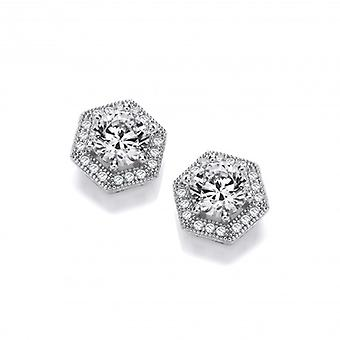 Cavendish French Art Deco Style CZ Earrings